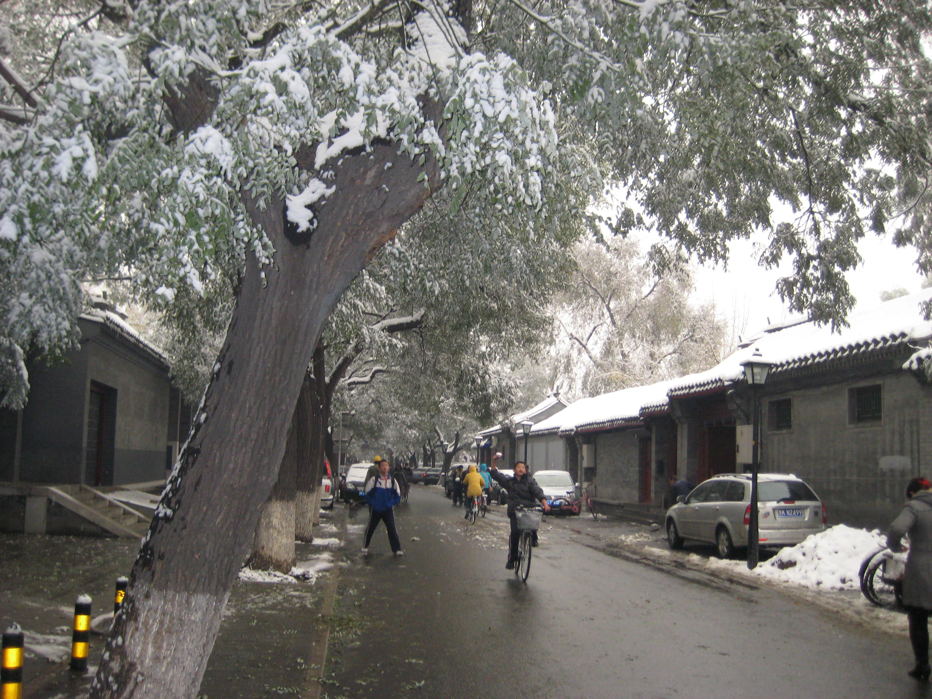 hutong in the snow