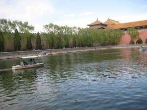 Lucky couples who've found their matches enjoy a sunny day on the moat of The Forbidden City